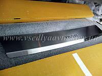 Накладка на бампер с загибом для Chevrolet AVEO седан с 2006 г. (NataNiko)