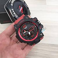 Спортивные часы Casio G-Shock красный ремешок