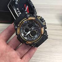 Спортивные часы Casio G-Shock золотое обрамление