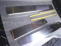 Защита порогов - накладки на пороги Hyundai TUCSON с 2016 г. (Standart)