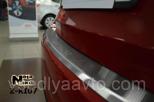 Накладка на бампер с загибом Nissan Sentra с 2015 г. (NataNiko)