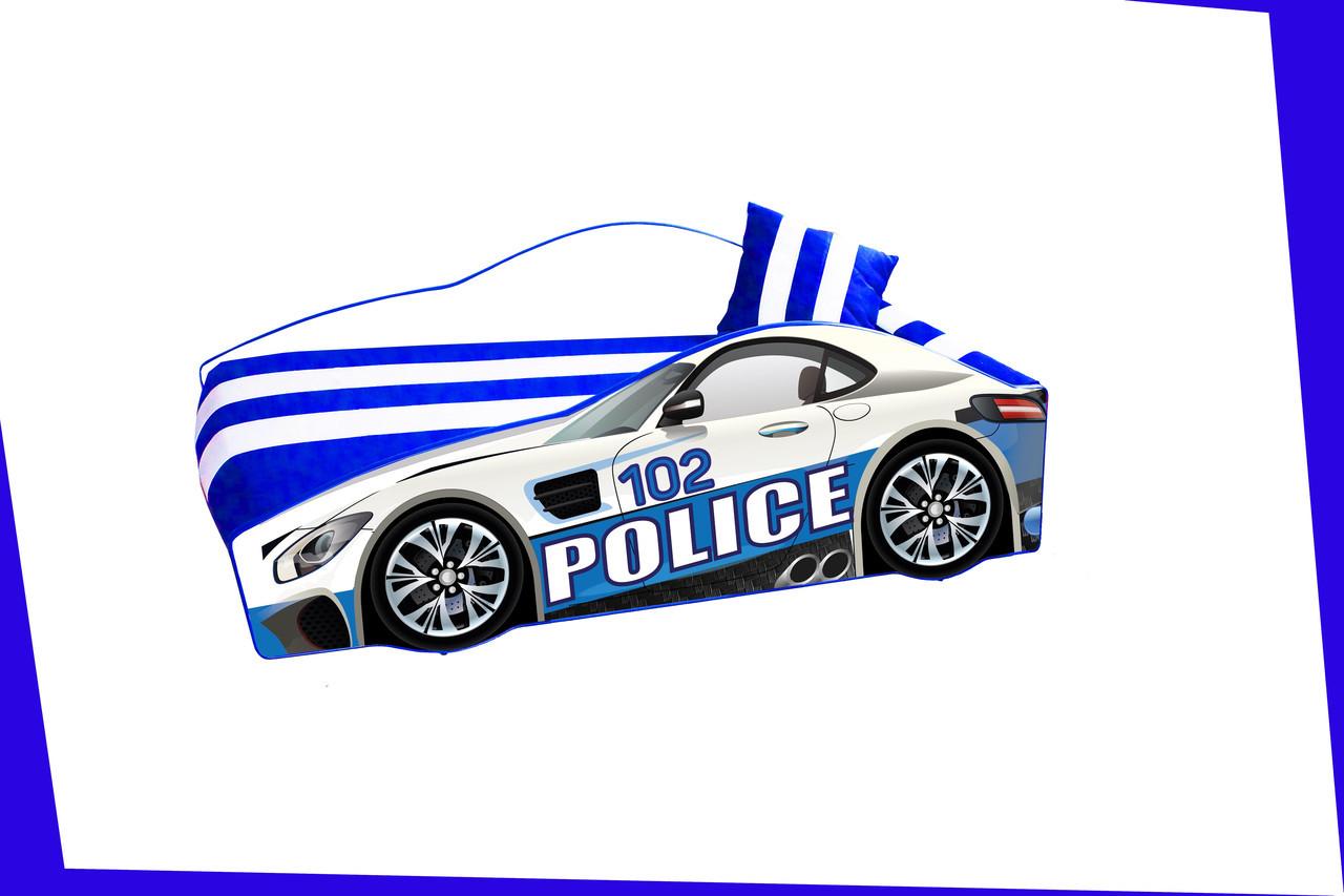 Кровать машина Полицейская машина Police серии Элит Бесплатная доставка