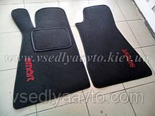 Текстильные (ворсистые) Коврики в салон SMART 452 Roadster (черные)