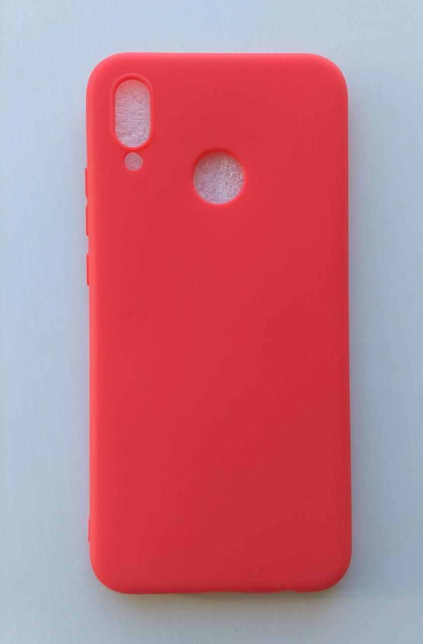Силиконовый чехол Huawei P20 Lite / Huawei Nova 3e матовый Red (Красный)