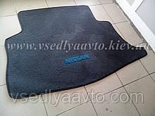Ворсовый коврик в багажник NISSAN Ieaf  (Серый)