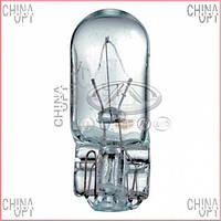 Лампочка габаритная, безцокольная W5W, Geely GC5 [CE1], W5W12V, Magneti Marelli