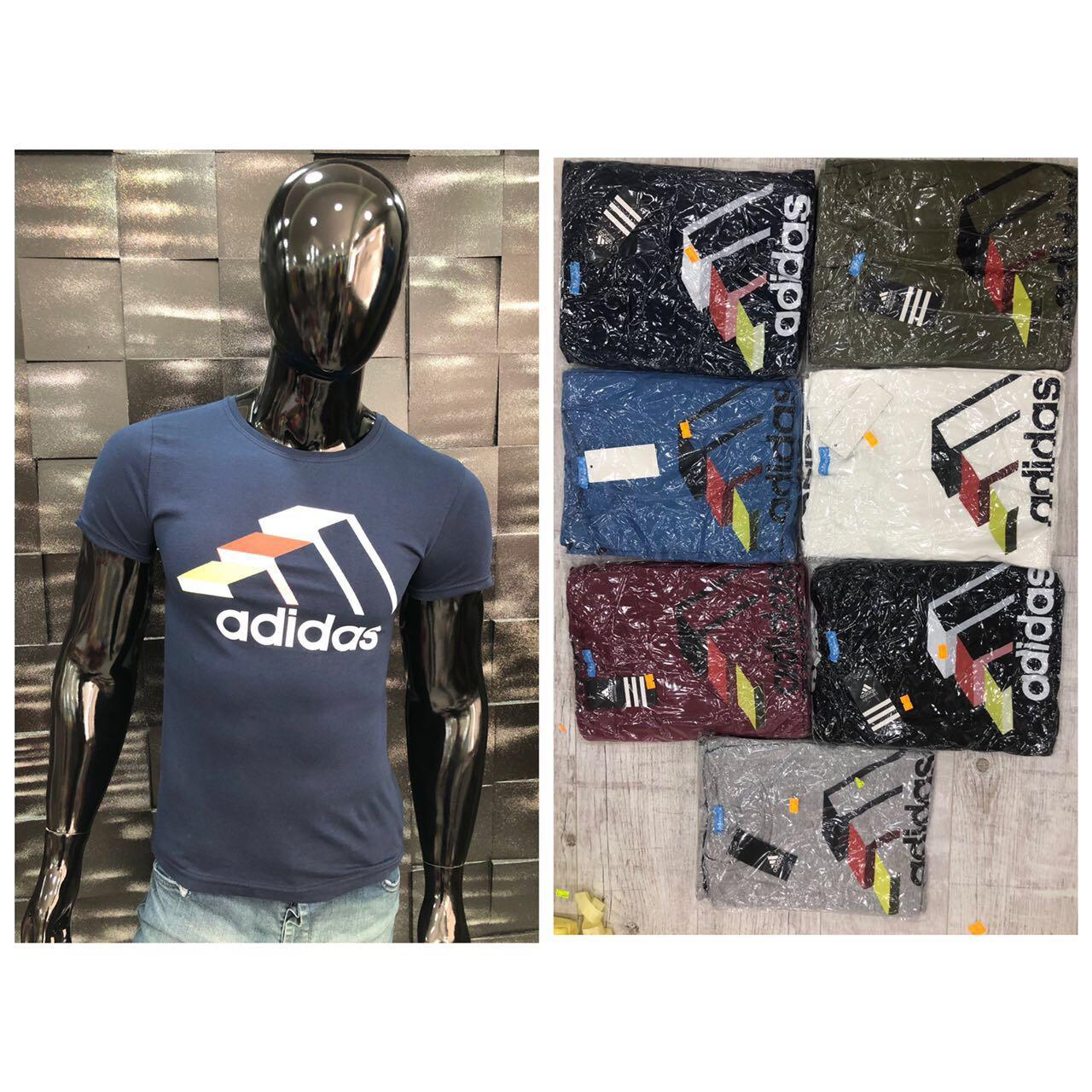 Футболка мужская Adidas, две модели. Супер качество, хлопок, Турция. Размеры  с-м и л-хl, расцветки
