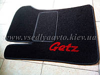 Ворсовый водительский коврик для Hyundai Getz
