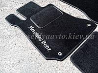 Водительский ворсовый коврики Mercedes W204 (Черные)