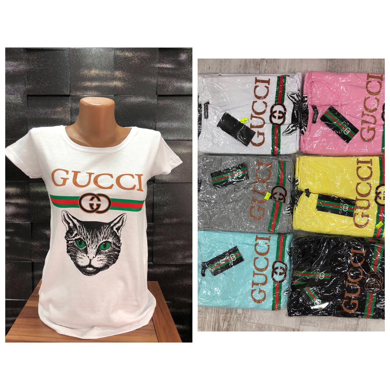 Футболка женская Gucci Cat. Отличное качество, хлопок, Турция. Размеры с,м,л,хл, расцветки