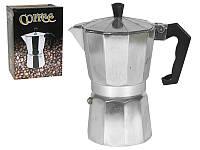 Гейзерна кавоварка Coffee ВНР-А006 алюміній 560мл