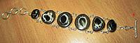 """Шикарный серебряный браслет с септарией  """"Тысячелетие"""" ,  от студии LadyStyle.Biz, фото 1"""