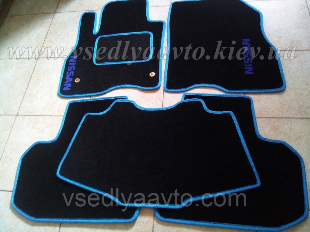 Ворсовые коврики в салон Nissan Leaf (Черные)