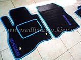Ворсовые коврики в салон Nissan Leaf (Черные), фото 5