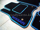 Ворсовые коврики в салон Nissan Leaf (Черные), фото 7