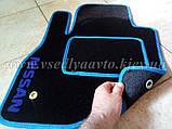 Ворсовые коврики в салон Nissan Leaf (Черные), фото 8