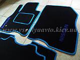 Ворсовые коврики в салон Nissan Leaf (Черные), фото 9