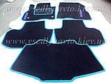 Ворсовые коврики в салон Nissan Leaf (Черные), фото 10