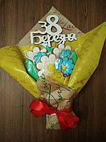 Букеты цветов из пряников имбирно медовый ручной работы печиво С 8 МАРТА