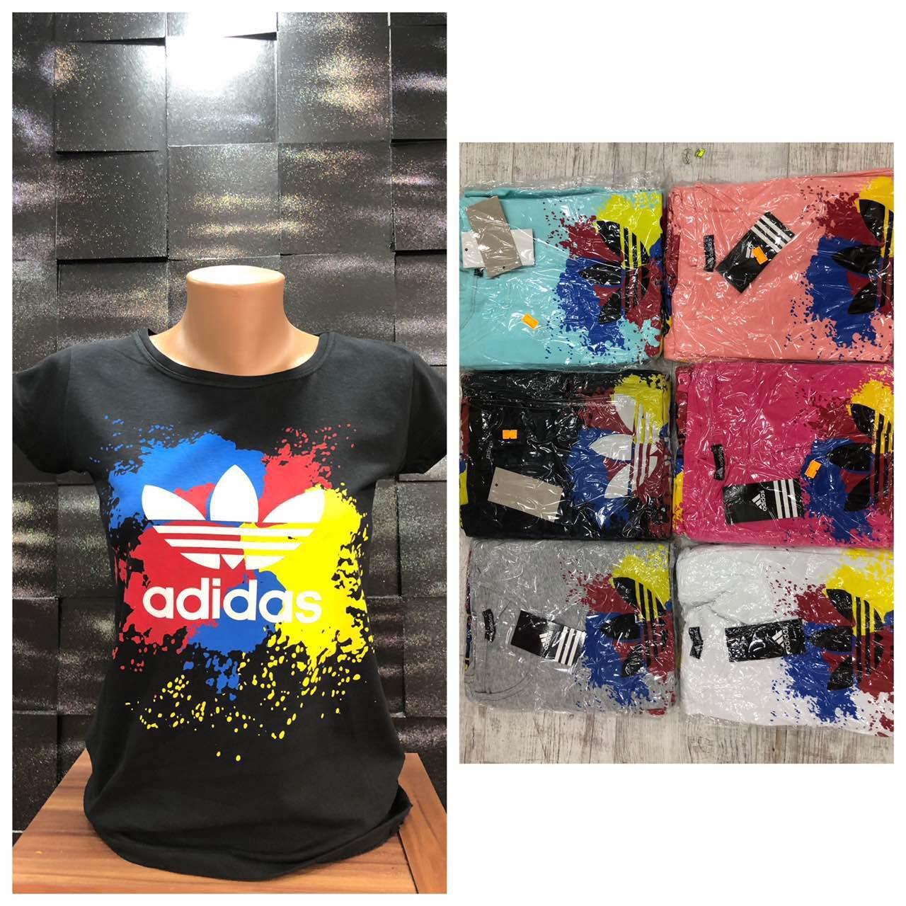 Футболка женская Adidas. Отличное качество, хлопок, Турция. Размеры с,м,л,хл, расцветки