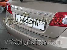 Накладка на бампер Chevrolet LACETTI хетчбэк с 2004- (NataNiko)