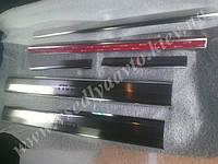 Защита порогов - накладки на пороги Chevrolet AVEO I/II  (2002-2011) (Premium)
