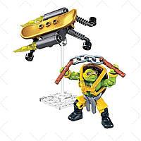 Конструктор Микеланджело Супер трюки, 34 дет. - Michelangelo, Turbo Board, Tmnt, Mega Bloks - 138370