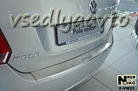 Накладки на бампер с загибом Volkswagen POLO V 4-дверка с 2009 г.