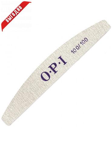 Пилочка для ногтей OPI -100х100 , форма луна\лодка