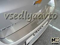 Накладка на бампер Chevrolet CRUZE 5-дверка с 2011-  (NataNiko)