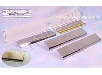 Защита порогов - накладки на пороги Peugeot 3008 с 2009 г. (Standart)