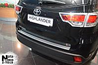 Накладки на бампер с загибом Тойота HIGHLANDER III с 2013 г. (NataNiko)