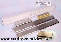 Защита порогов - накладки на пороги Fiat BRAVO с 2007- (Standart)