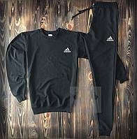 Спортивный костюм Adidas черный (люкс копия)