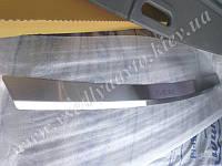 Накладка на бампер с загибом Skoda Fabia II универсал с 2007 г. (NataNiko)