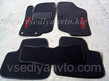 Ворсовые коврики в салон Peugeot 207 (2006-2012)(Черные)