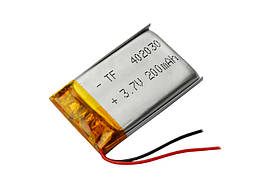 Аккумулятор литий-полимерный 3,7V 200mAh