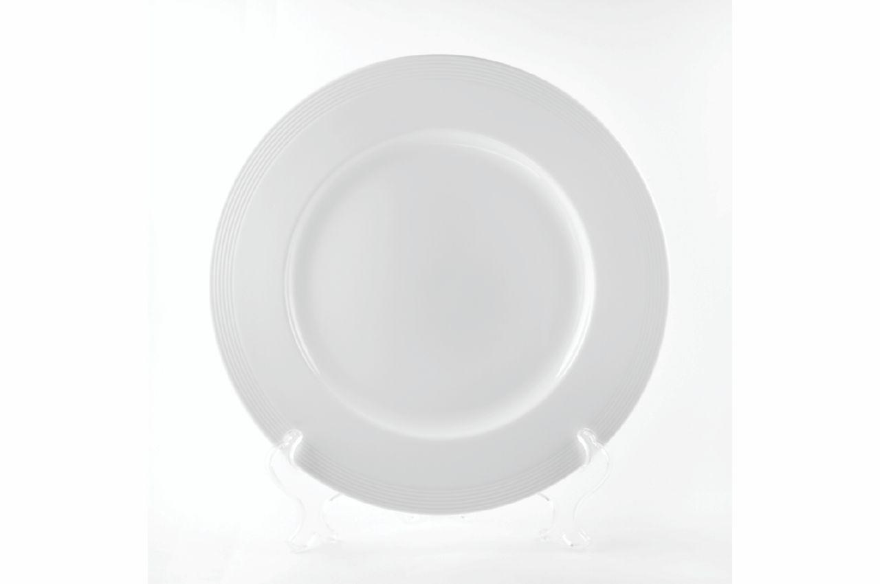 """Тарелка фарфоровая Maestro - 275 мм """"White Linen"""" MR-10001-04"""