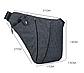 Мужская сумка Cross Body (черная, серая), фото 4