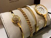 Часы в подарочной упаковке watch set ANNE KLEIN Gold white