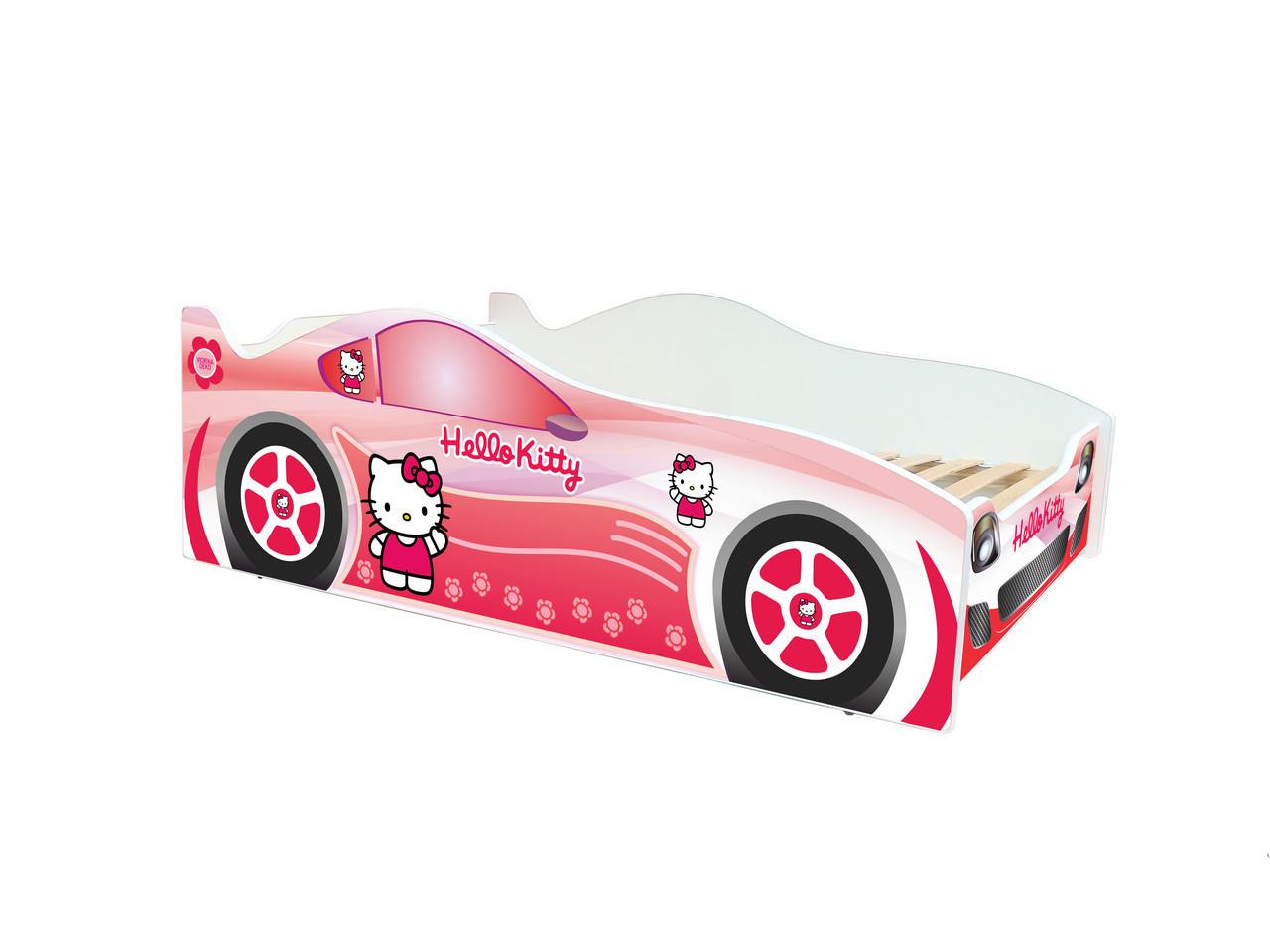 Кровать машинка Эволюция машина Китти Хеллоу + ламели + бесплатная доставка