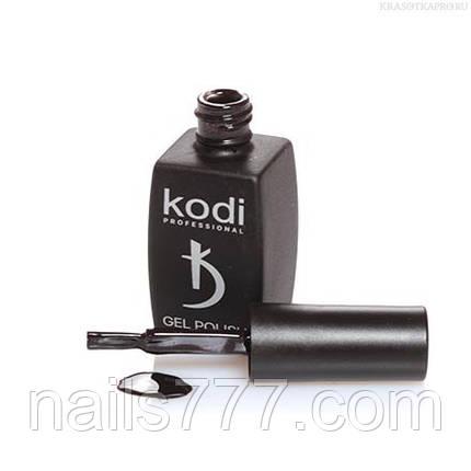 Гель лак Kodi  №110BW, черный, с пурпурными микроблестками, фото 2