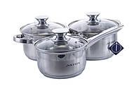 Набор посуды нержавеющий Astor - 2,9 x 5,1 + 2,1 л (3 шт.)