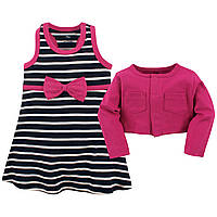 Набор кардиган и платье от Hudson Baby (США)