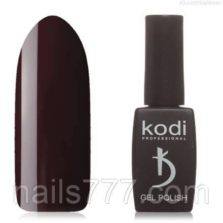 Гель лак Kodi  №100WN,темный фиолетово-бордовый