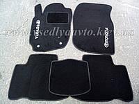 Ворсовые коврики  Тойота РАВ4 (2013-2018) (Черные)
