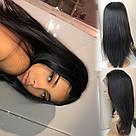 💎 Парик из натуральных волос женский, ровный волос 💎, фото 2