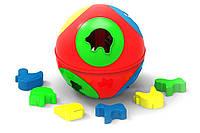 Развивающая игрушка сортер Розумний малюк Куля 2 ТехноК 3237