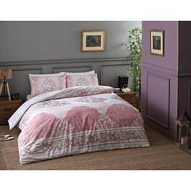 Постельное белье Tac ранфорс - Aryan pembe v02 розовый евро