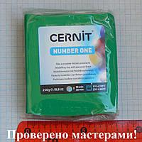 Полимерная глина Цернит (CERNIT) зеленый № 600, 250 г